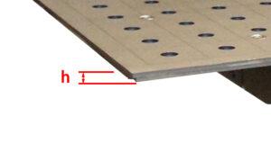 """Flex SST Plattenstärke """"h"""""""