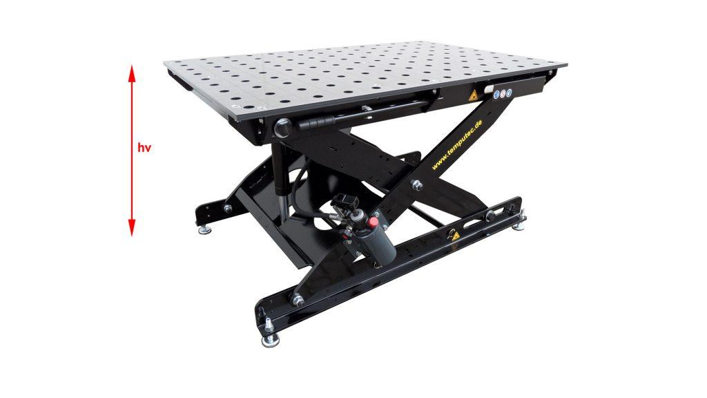 """SST 65-105/16S, flexible Höhe der Tabletop """"hv"""""""